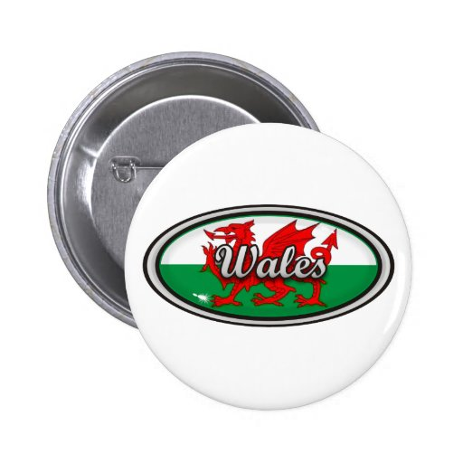 Wales Flag 2 Inch Round Button
