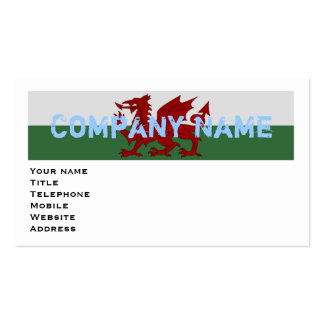 Wales Flag Business Card Templates