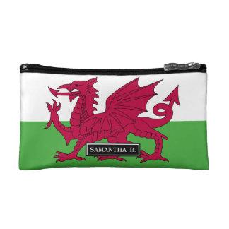Wales Flag Cosmetic Bag