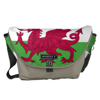 Wales Flag Courier Bag