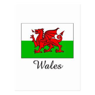 Wales Flag Design Postcard