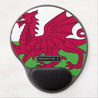 Wales Flag Gel Mouse Pad