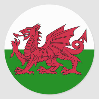 Wales Flag Heart Classic Round Sticker