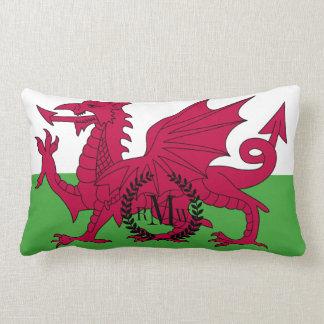 Wales Flag Lumbar Pillow