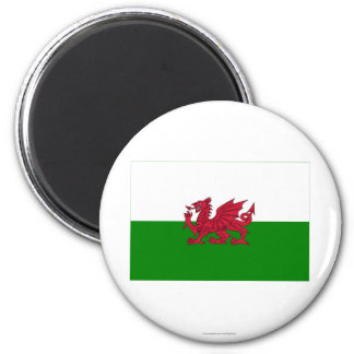 Wales Flag 2 Inch Round Magnet