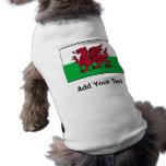Wales Flag Pet Tee Shirt