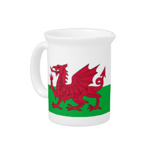 Wales Flag Pitcher