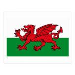 Wales Flag Postcard