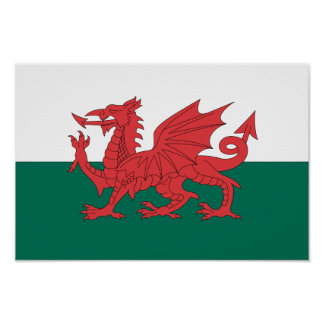Wales Flag Poster