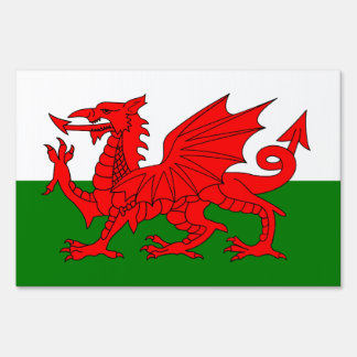 Wales flag sign