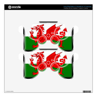 Wales Flag Decal For PS3 Controller
