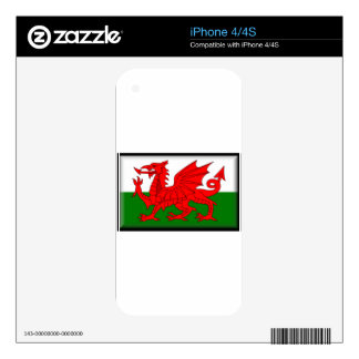 Wales Flag Skins For iPhone 4