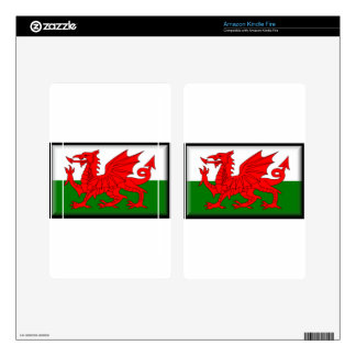 Wales Flag Decals For Kindle Fire