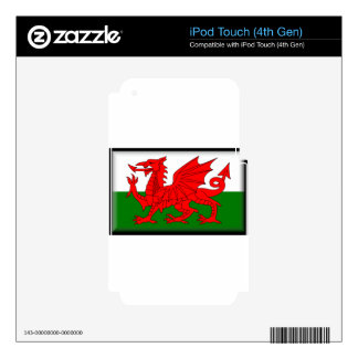 Wales Flag iPod Touch 4G Decals