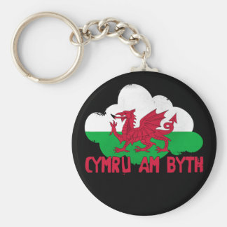 Wales Forever Basic Round Button Keychain