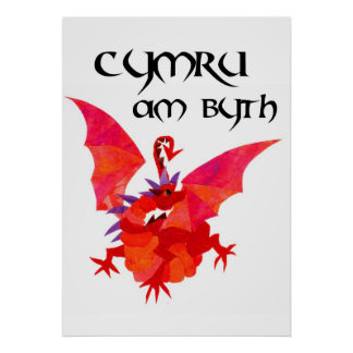 Wales Forever Red Dragon Poster