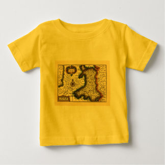 Wales - Historic 17th Century Map of Wales Baby T-Shirt