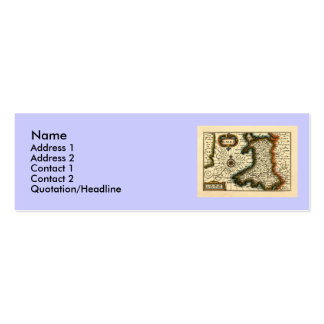 Wales - Historic 17th Century Map of Wales Business Card Templates