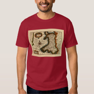 Wales - Historic 17th Century Map of Wales Tee Shirt