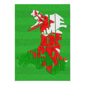 Wales Home of Rugby 4.5x6.25 Paper Invitation Card