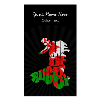 Wales Home of Rugby Custom Business Cards