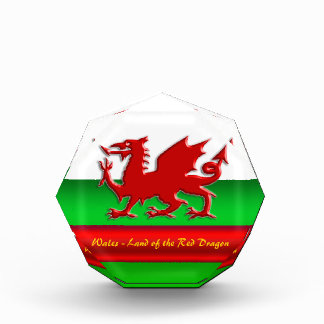 Wales - Home of the Red Dragon, metallic-effect Award