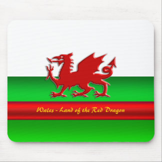Wales - Home of the Red Dragon, metallic-effect Mouse Pad
