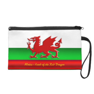 Wales - Home of the Red Dragon, metallic-effect Wristlet