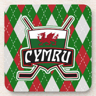 Wales Ice Hockey Flag Drinks Mats Coaster