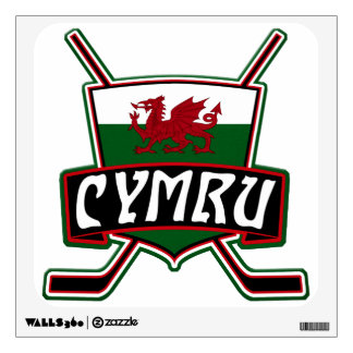 Wales Ice Hockey Flag Wall Decal