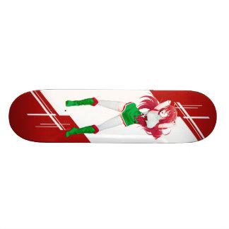 Wales Manga girl dressed in Flag - Welsh Skateboards