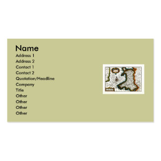 Wales Map and/or Flag Business Card Templates
