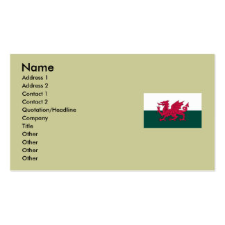Wales Map and/or Flag Business Card Template