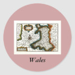 Wales Map and/or Flag Classic Round Sticker