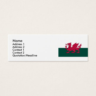 Wales Map and/or Flag Mini Business Card
