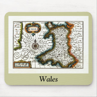 Wales Map and/or Flag Mouse Pad