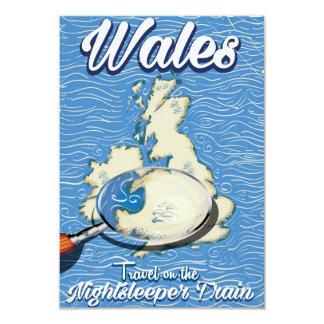 Wales Nightsleeper train British travel poster Card