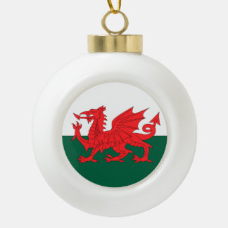 Wales Ceramic Ball Christmas Ornament