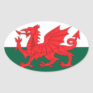Wales Oval Sticker