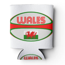 Wales Rugby Ball Can Cooler