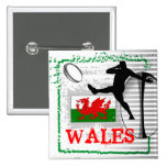 Wales Rugby Button
