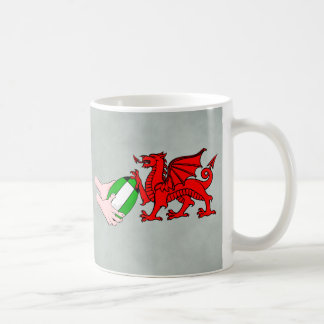 Wales Rugby Team  Dragon With Rugby Ball Coffee Mug