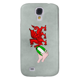 Wales Rugby Team  Dragon With Rugby Ball Galaxy S4 Case