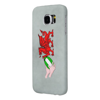 Wales Rugby Team  Dragon With Rugby Ball Samsung Galaxy S6 Case