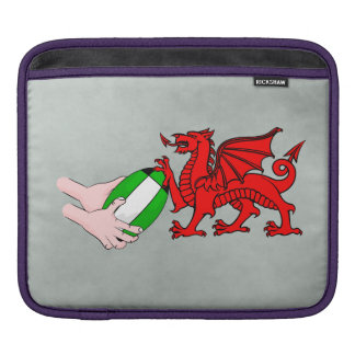 Wales Rugby Team  Dragon With Rugby Ball Sleeve For iPads