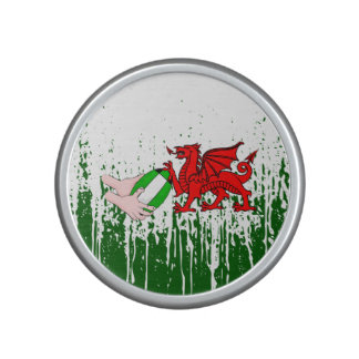 Wales Rugby Team Supporters Flag With Ball Bluetooth Speaker