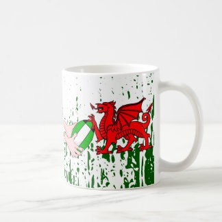 Wales Rugby Team Supporters Flag With Ball Coffee Mug