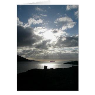 Wales Seaside Sunset Greeting Card