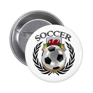 Wales Soccer 2016 Fan Gear Pinback Button