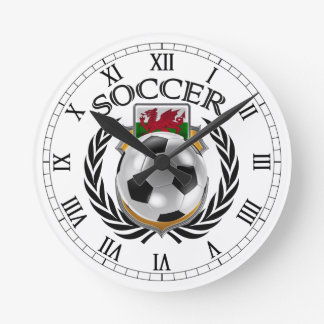 Wales Soccer 2016 Fan Gear Round Clock